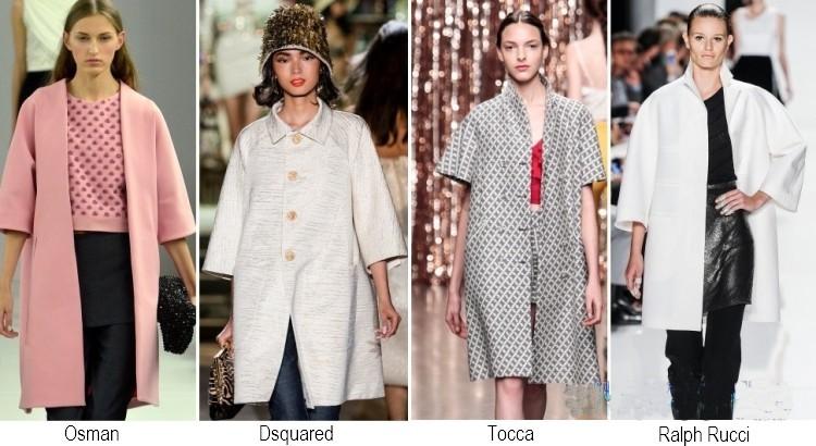 Capotti maniche tre quarti moda primavera estate 2014