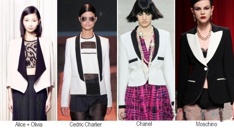 Giacche bianco nere moda primavera estate 2014
