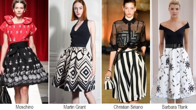 Gonne con stampe moda primavera estate 2014