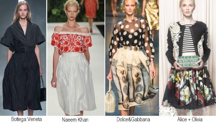 Gonne moda primavera estate 2014