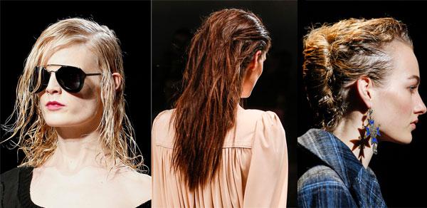 Moda capelli 2014 Effetto di capelli bagnati