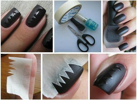 Nail art Unghie tutorial come fare unghie meta lucido e opaco