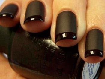 Nail art unghie con smalti opachi e lucidi