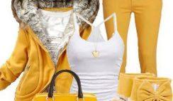 Outfit giallo fashion alla moda