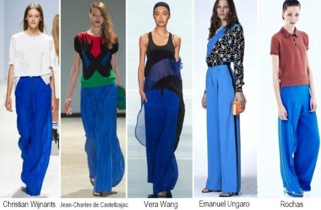 Pantalonio blu moda primavera estate 2014