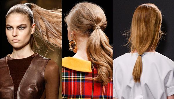 Raccolti e code Moda capelli 2014