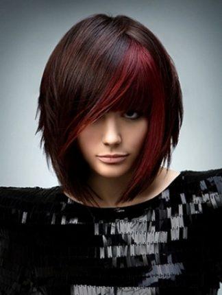 Tendenze di colore dei capelli 2014 bicolore con taglio fresco