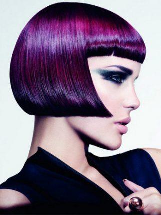 Tendenze di colore dei capelli 2014 tonalità di viola con bob
