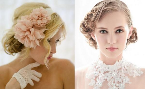Acconciature da sposa per capelli corti 2014