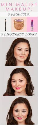 Make up minimal trucco con diversi look