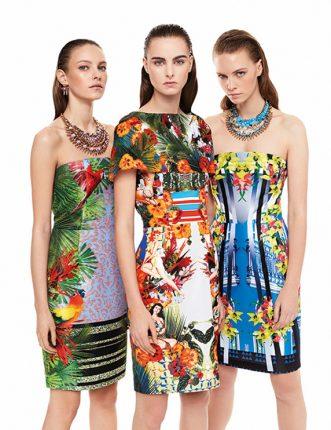 Pinko abbigliamento stampe tropicali