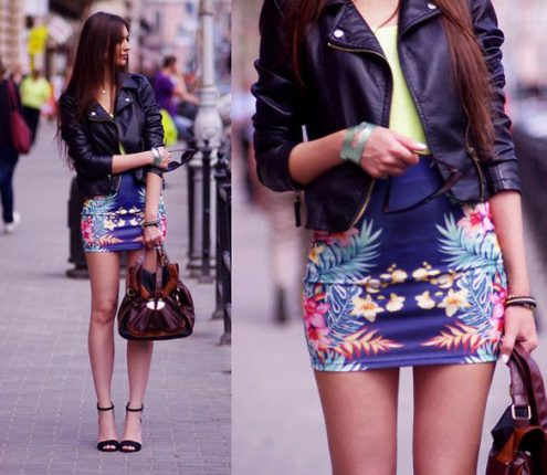 Stampe tropicali abbigliamento moda outfit