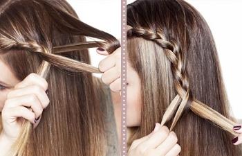 Treccia laterale acconciatura capelli lunghi