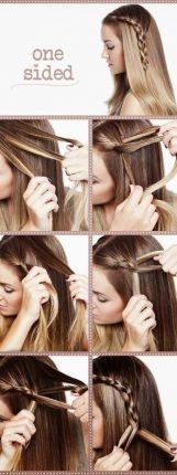 Treccia laterale tutorial capelli