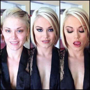 Trucco prima e dopo da make up artist