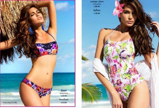 Bikini e costume intero fantasia floreale estate Yamamay