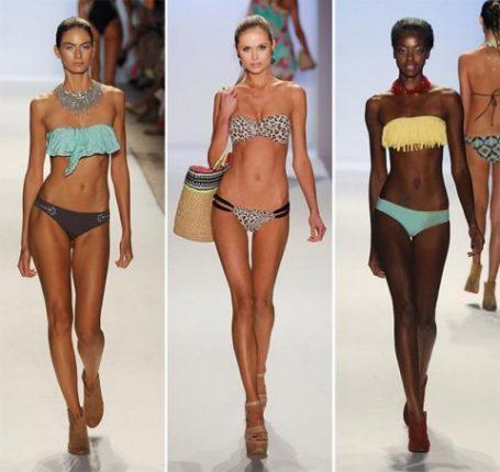 Moda mare costumi bikini a fascia