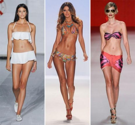 Moda mare costumi skirt bikini