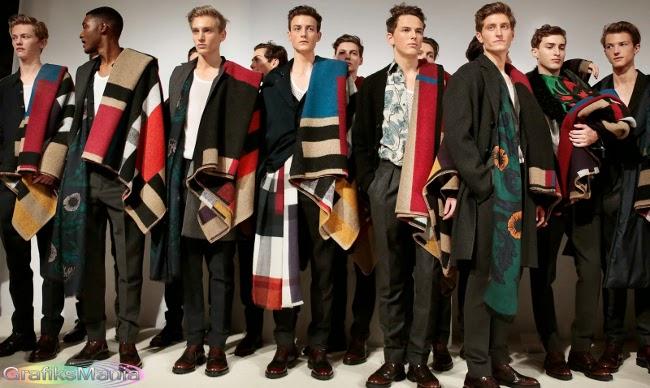 Burberry autunno inverno 2014 2015 abbigliamento uomo