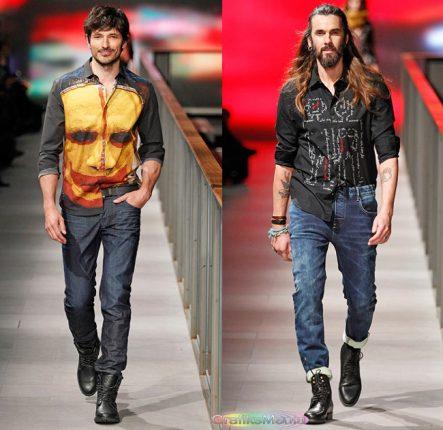 Desigual autunno inverno 2014 2015 pantaloni uomo