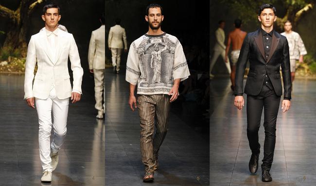 Dolce  Gabbana primavera estate 2014 abbigliamento uomo
