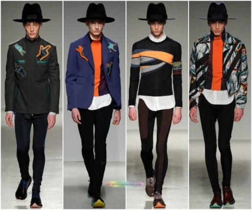 John Galliano autunno inverno 2014 2015 abbigliamento uomo