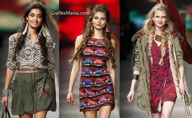 Look Desigual autunno inverno 2014 2015 donna