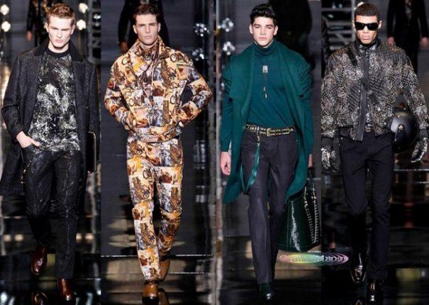 Versace autunno inverno 2014 2015 abbigliamento uomo