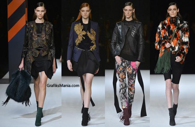 Abbigliamento Roberto Cavalli autunno inverno 2014 2015
