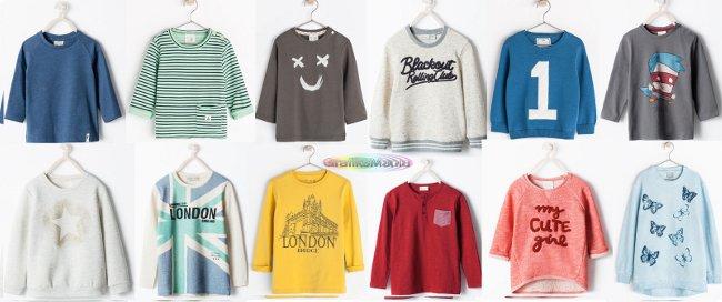 Felpe e magliette Zara bambini autunno inverno 2014 2015