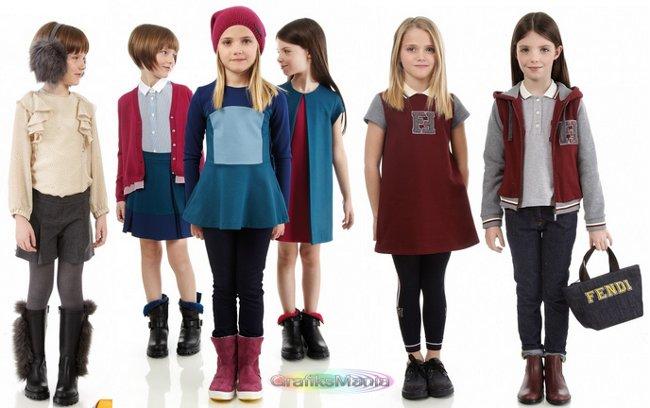 Fendi bambini abbigliamento autunno inverno 2014 2015