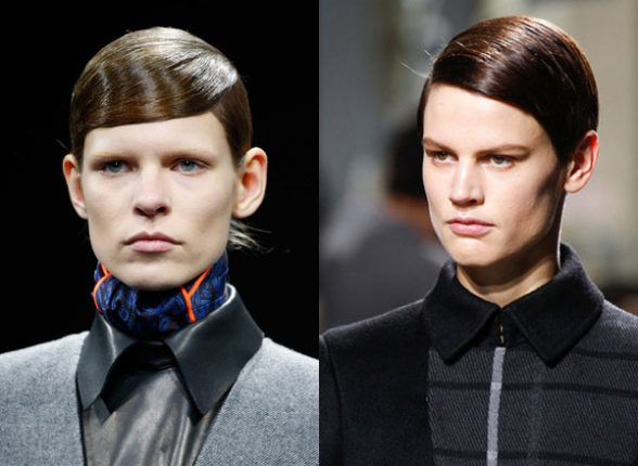 Acconciature alla moda in stile androgino