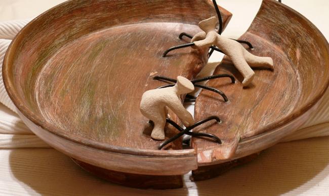 Il perdono Metafora di piatto rotto