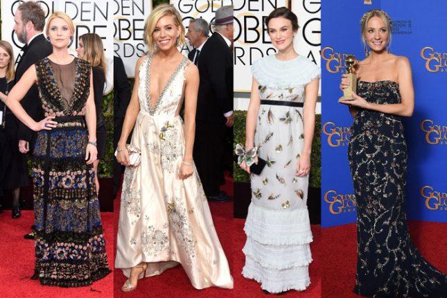 Abiti stampe fiori delle star ai Golden Globes 2015