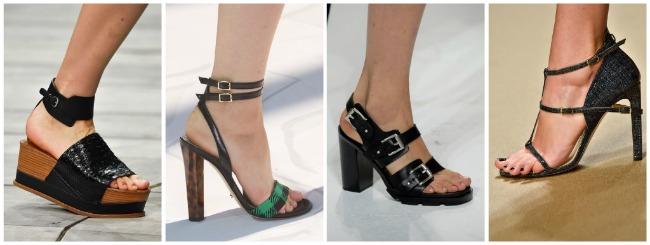 Sandali con fibbie e cinturini scarpe primavera estate 2015