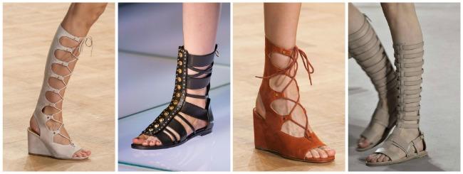 Sandali gladiator scarpe primavera estate 2015