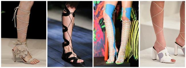 Scarpe con alta allacciatura primavera estate 2015