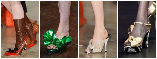 Scarpe con fiocchi e archi primavera estate 2015
