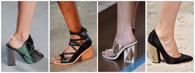 Scarpe con tacco largo primavera estate 2015