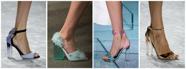 Scarpe con tacco trasparente primavera estate 2015