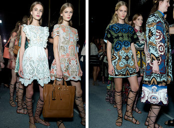 Valentino catalogo moda donna primavera estate 2015