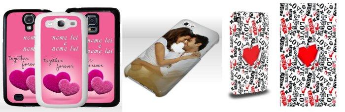 Cover personalizzata per smartphone o tablet San Valentino