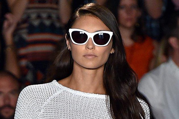 Occhiali da sole con montatura bianca tendenze 2015