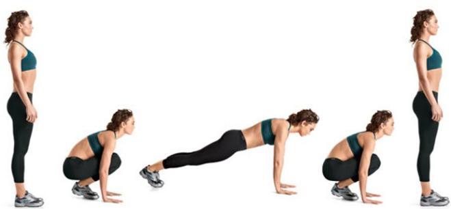 Il burpee Corpo perfetto con dodici esercizi
