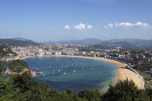 La Concha spiaggia San Sebastian Spagna
