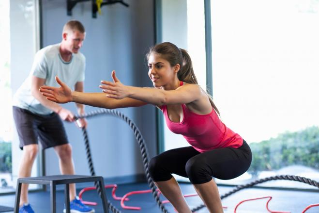 Lo squat Corpo perfetto con dodici esercizi