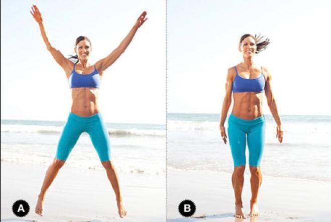 jumping Corpo perfetto con dodici esercizi