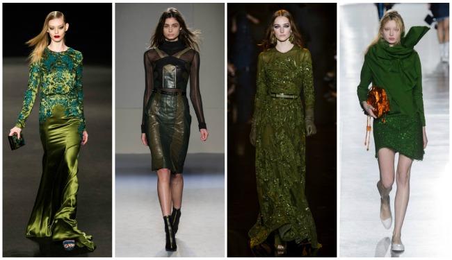 Colori di tendenza autunno-inverno 2015 2016 verde scuro