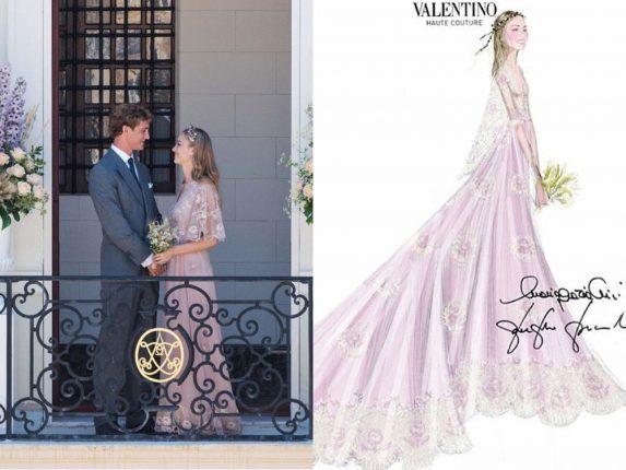 Beatrice Borromeo Matrimonio Con Pierre Casiraghi Abito Valentino Couture