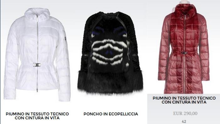 Giubbotti Armani Jeans donna inverno